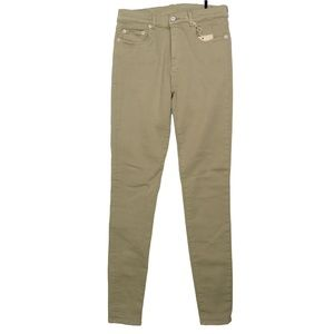(+) PEOPLE Mid-Rise Skinny Jeans, Beige, Size: M |